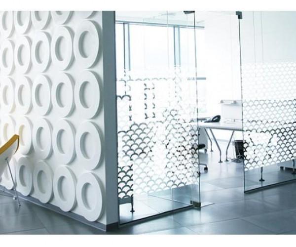 Дизайнерские пленки SOLAR SCREEN® иней формы Atoma представляет из себя морозный узоры разных размеров