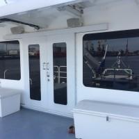 Тонирование стёкол на яхте
