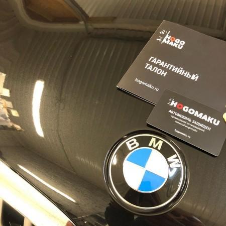 Установка антигравийной плёнки Hogomaku на кузов автомобиля BMW X5