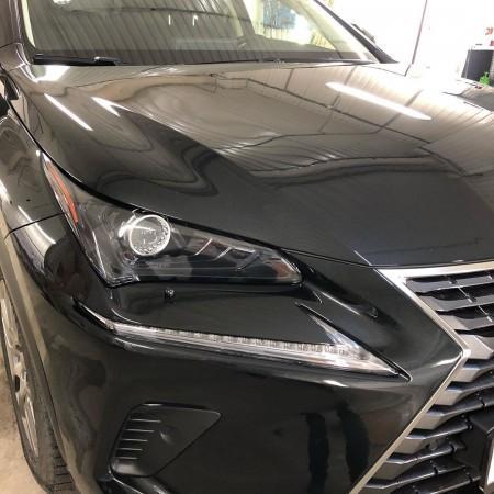 Защита зон риска антигравийной плёнкой Hogomaku а/м Lexus в Мастерской Блик
