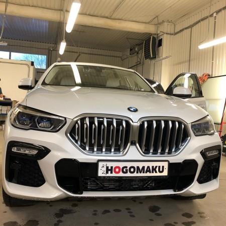 Защита зон риска а/м BMW -X6 антигравийной плёнкой Hogomaku ION в г. Калининграде